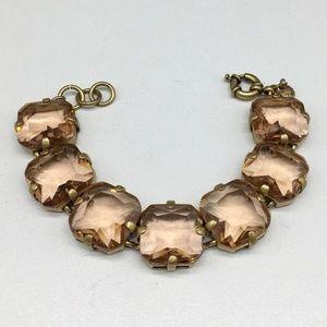 J. Crew Jewelry - J CREW Peach Champagne Rhinestone Bracelet JCREW
